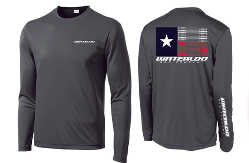 Waterloo Charcoal Performance Flag Shirt