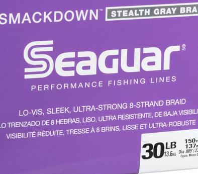 Seaguar Smackdown Stealth Gray Braid 30lb 150yds