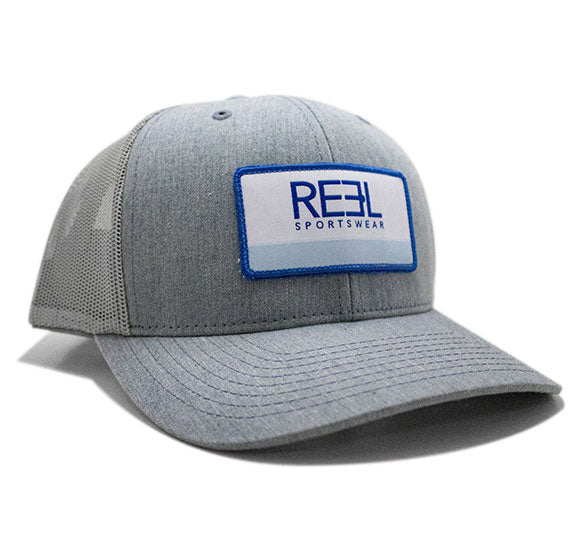 REEL Sportswear Heather Grey/Blue Retro Trucker Cap