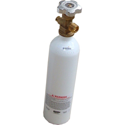 D Sized Oxygen Cylinder - White