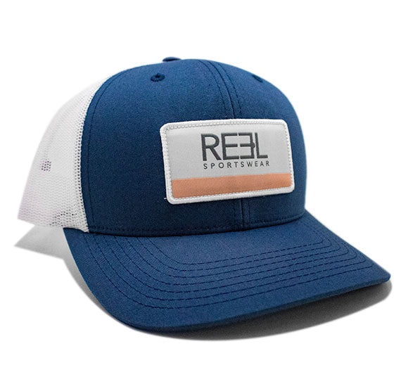 REEL Sportswear Navy/White with Coral Retro Trucker Cap