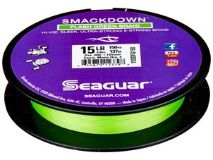 Seaguar Smackdown Hi-Vis Flash Green Braid 30lb 150yds