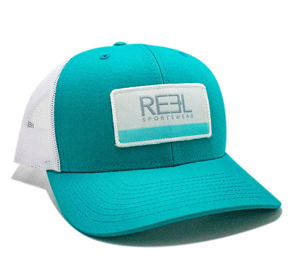 REEL Sportswear Teal/White Retro Trucker Cap