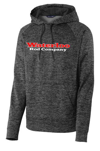 Waterloo Heather Grey-Black Fleece Hooded Sweatshirt