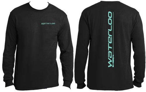 Waterloo Black Long Sleeve Cotton Shirt