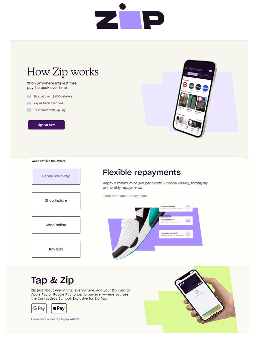 Zip - Pay Later - Interest Free Payments