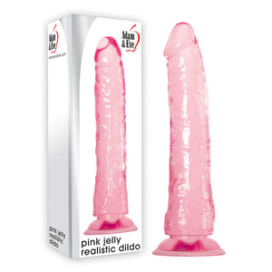 Adam & Eve Pink Jelly Realistic Dildo - Pink