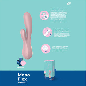 Satisfyer Mono Flex - Mauve App Controlled Rabbit Vibrator