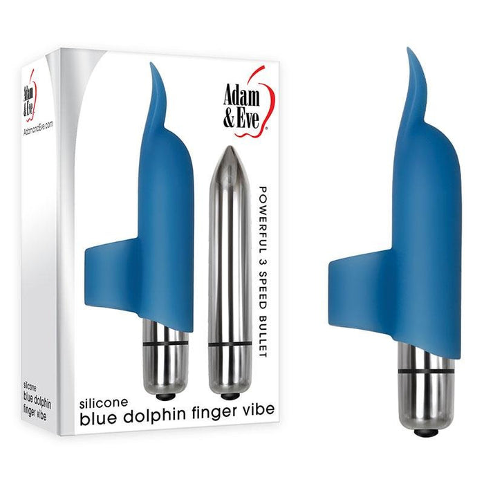 Adam & Eve Blue Dolphin Finger Vibe