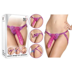 Adam & Eve Eve's Strap-On Playset - Pink