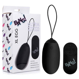 Bang! XL Vibrating Black Egg with Wireless Remote