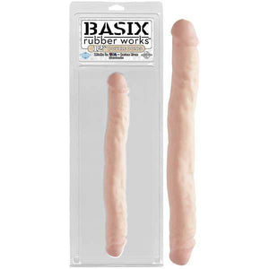 Basix Rubber Works 12 Inch Double Dong - Flesh