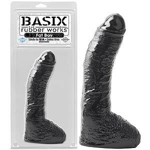 Basix Rubber Works Fat Boy - Black 10 Inch Dong