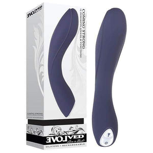 Coming Strong - Navy Blue 119 cm (7.5'') USB Rechargeable Vibrator