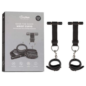 EasyToys Fetish Collection Over The Door Wrist Cuffs - Black Wrist Restraints