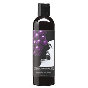 Edible Massage Oil Gushing Grape Flavoured - 237ml