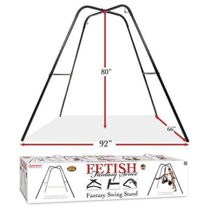 Fetish Fantasy Series Fantasy Swing Stand - Black Swing Stand (No Swing Included)