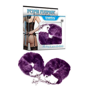 Fetish Pleasure Fluffy Hand Cuffs - Purple