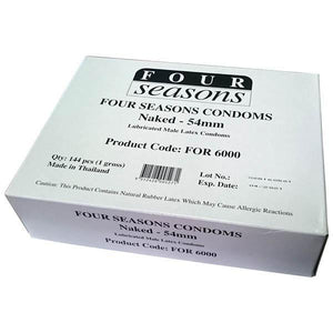 Four Seasons Naked Classic Condoms - Bulk Box of 144