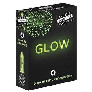 Glow N' Dark Condoms - Glow In The Dark Lubricated Condoms - 4 Pack