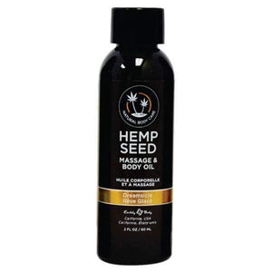 Hemp Seed Massage & Body Oil - Dreamsicle (Tangerine & Plum) Scented - 59 ml Bottle