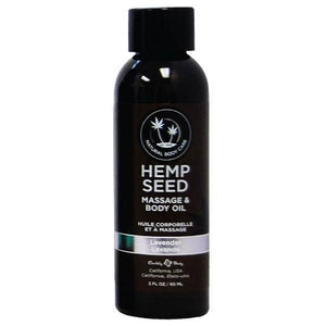 Hemp Seed Massage & Body Oil - Lavender Scented - 59 ml Bottle