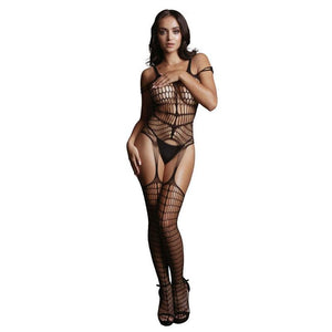 LE DESIR Shredded Bodystocking - Black - One Size