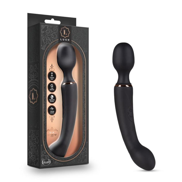 Lush Gia - Black Rechargeable Massager Wand
