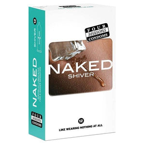 Naked Shiver - Ultra Thin Lubricated Condoms - 12 Pack