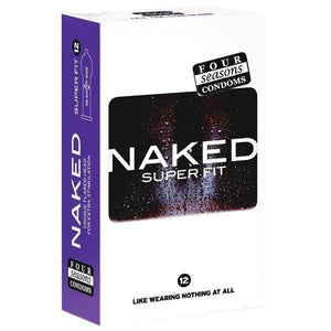Naked Super Fit - Ultra Thin Lubricated Condoms - 12 Pack