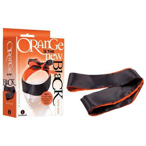 Orange Is The New Black - Satin Sash - Black/Orange Blindfold