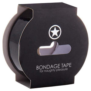 Ouch! Non Sticky Bondage Tape - Black - 17.5 m Length