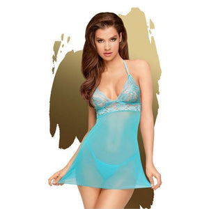 Penthouse BEDTIME STORY - Turquoise Dress - L/XL