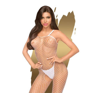 Penthouse BODY SEARCH - White Bodystocking- S/L One Size