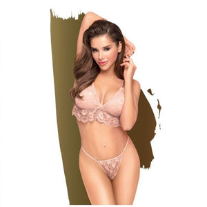Penthouse DOUBLE SPICE - Nude Bralette Set- L/XL