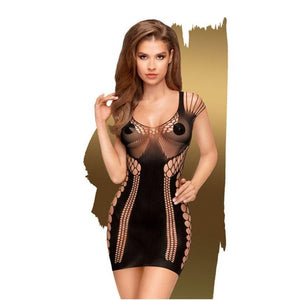 Penthouse JUICY POISON - Black Seamless Dress- XL