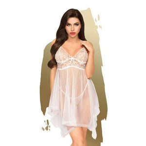 Penthouse NAUGHTY DOLL - White Babydoll - M/L