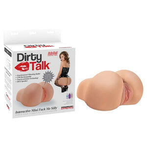 Pipedream Extreme Toyz Dirty Talk Interactive Mini Fuck Me Silly - Flesh Vibrating Doggy-Style Masturbator with Sound Effects