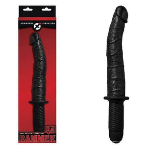 Rammer - Black 9.5 Inch Vibrating Dong with Handle