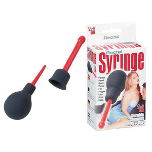 Rectal Syringe Douche - Red Unisex Douche
