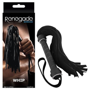 Renegade Bondage - Whip - Black Whip