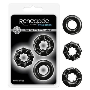 Renegade - Dyno Black Cock Rings - Set of 3