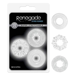 Renegade - Dyno Rings - Clear Cock Rings - Set of 3