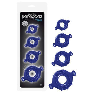 Renegade Vitality Rings - Blue Cock Rings - Set of 4 Sizes