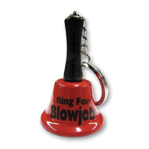 Ring For Blowjob Keychain Bell - Novelty Keychain