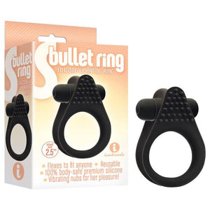 S- Bullet Ring - Black Vibrating Cock Ring