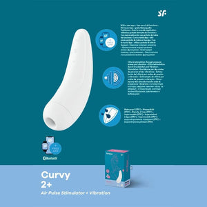 Satisfyer Curvy 2 White + Clitoral Stimulator with Vibration