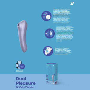 Satisfyer Dual Pleasure - App Contolled Clitoral Stimulator with Vibration - Mauve