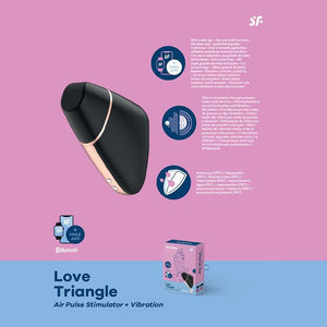 Satisfyer Love Triangle Black - Air Plus Stimulator+Vibration