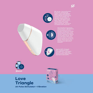 Satisfyer Love Triangle White- Air Plus Stimulator+Vibration